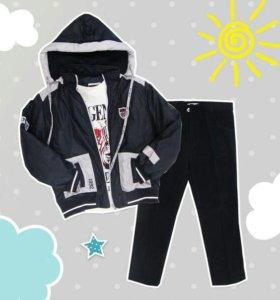 Комплект куртка, толстовка и джинсы