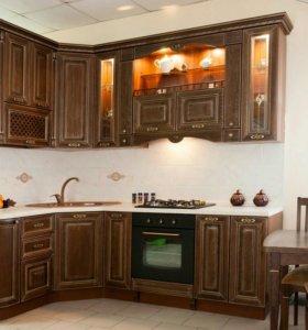 Кухонный гарнитур массив дуба +техника