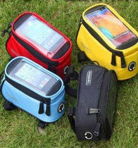 Сумки велосипедные на раму для смартфона