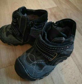 Новые тёплые ботиночки кожаные с натуральным мехом