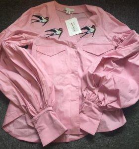 Шикарная блуза -рубашка р-42-44