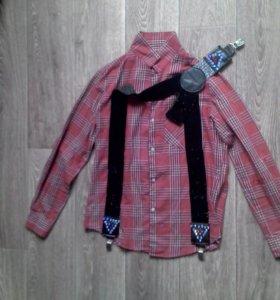 Рубашка s-m и подтяжки