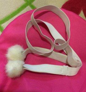 Резинки с прищепками для варежек/перчаток
