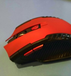 Новая комп красная беспровод мышь мышка 6 кнопок