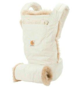 Эргономичный рюкзак ergo Baby Carrier белый с мехо
