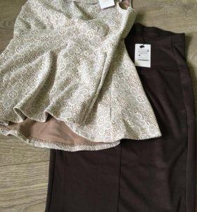 Блуза и юбка карандаш
