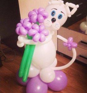 Фигуры из шаров кошка