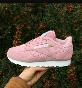 💥Reebok classic suede pink