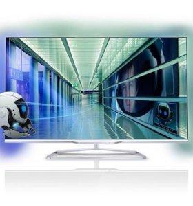 Телевизор philips 47 smart ,3D, 7серия, тонкий 2см