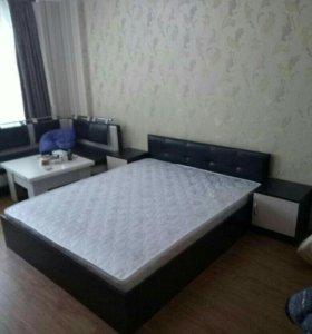 Кровать двуспальная МарсЭко