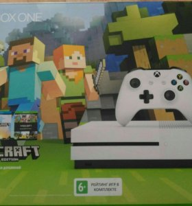 Xbox one s 500 Гбайт Minecraft Edition + Fifa 17
