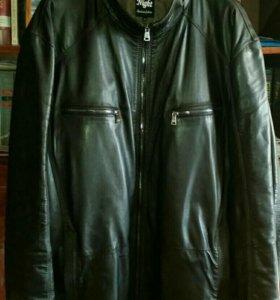 Мужская кожаная куртка р-р 66-69