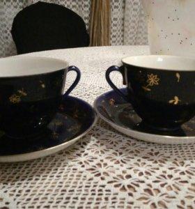 Раритетные чайные пары ЛФЗ 50е гг
