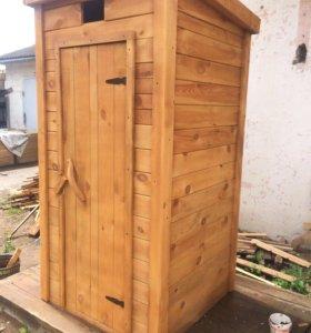 Туалет дачный прямой с постаментом