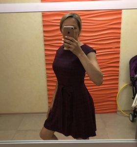 Платье жаккард 44