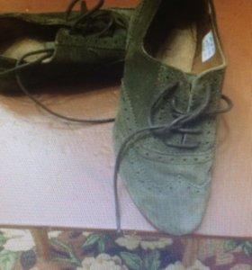 Итальянские замшевые туфли