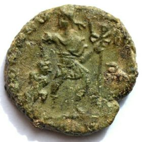 Монета которой 1642 года! РИМ. Валент 2. ОРИГИНАЛ!