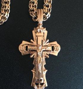 Цепь с крестом 50 грамм