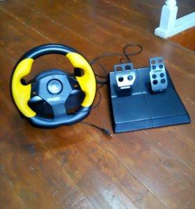 Руль с педалями игровой Formula GP Logitech