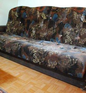 Диван(раскладной/кожа)+кресла