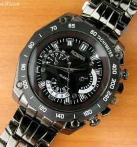 Rosra - мужские кварцевые часы, черные