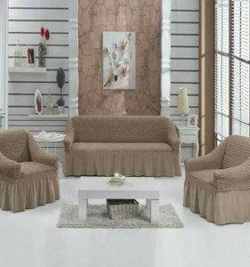 Еврочехлы на диван и 2 кресла