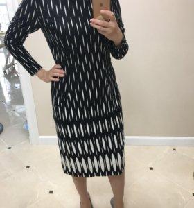 Чёрное новое платье р.50