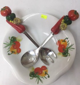 Блюдо для овощного салата и пельменей