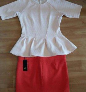 Блуза (баска) и юбка