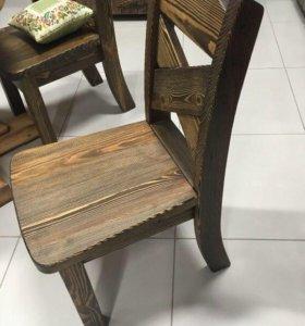 Красивый стул из массива под старину Колизей