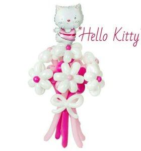 "Букет цветов из шариков ""Hello Kitty"""