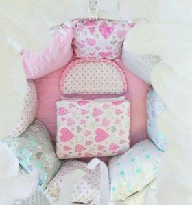 Комплект из хлопка в кроватку