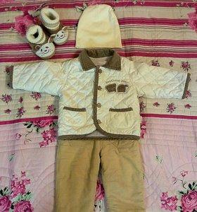 Курточка+штанишки+шапочка+пинетки