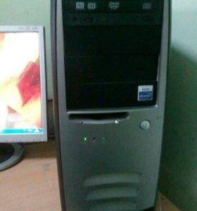 "Домашний компьютер 2 ядра+ монитор Samsung 17"""