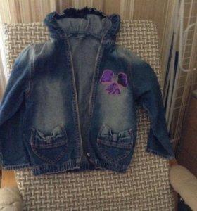 Джинсовая куртка 116-122