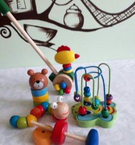 Безопасные игрушки из дерева для самых маленьких