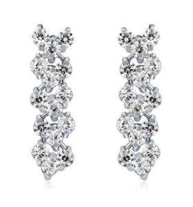 Сережки с кристаллами Swarovski