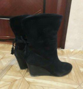 Обувь сапоги замша демисезон