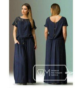 Красивое летнее платье 56 размер в наличии