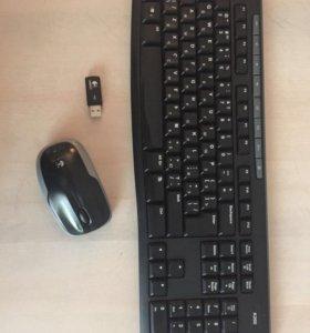 Беспроводная клавиатура и мышь Lgitech