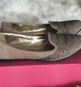 Замшевые балетки 38-й размер