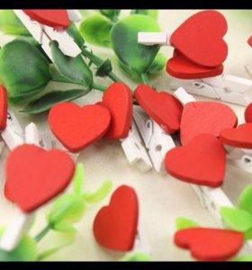 Прищепки-сердечки