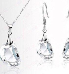Комплект с кристаллами Swarovski