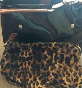 Кожаная сумка новая