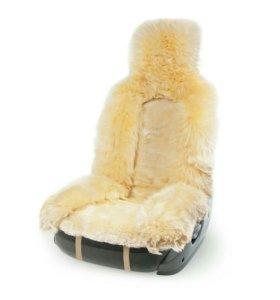 Меховая накидка на сиденье натуральная овчина