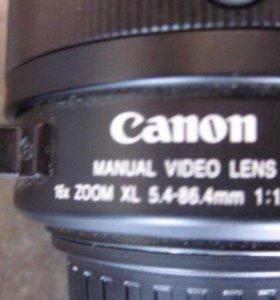 Canon Manuel Video Lens 16x Zoom XL 5.4-86.4 mm