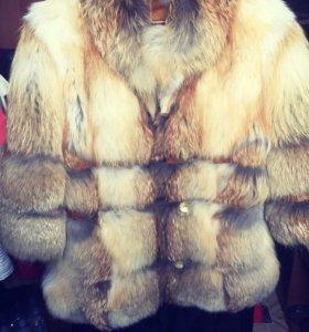 Шуба - курточка лиса