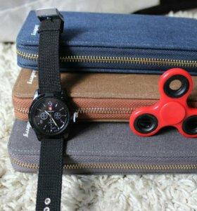 Мужской кошелек + спиннер и монопод/часы в подарок