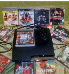 PS3-320GB+12игр+GTA5+аккаунт