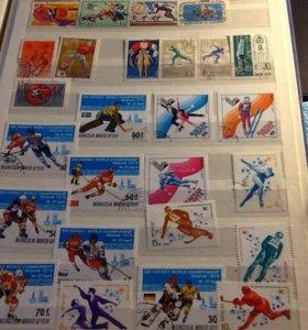 Коллекция почтовых марок СССР и других стран